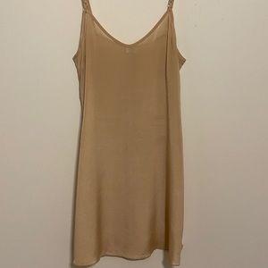 Aritzia wilfred nude silk slip dress xs preowned